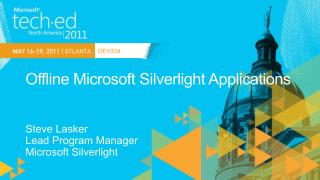 Offline Microsoft Silverlight Applications