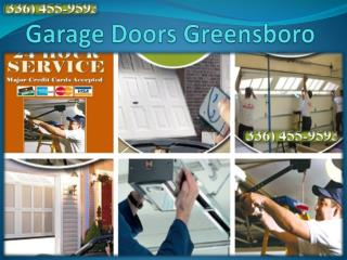 Springs Repair - Garage Doors Service in Greensboro