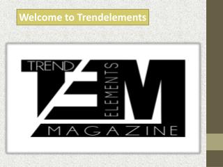 Welcome to trendelements