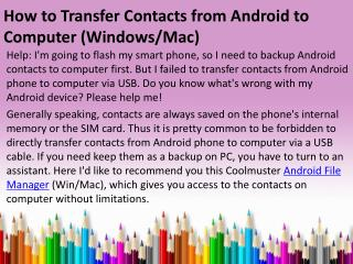 How to Transfer Contacts from Android to Computer (Windows and Mac)