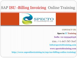 sap isu billing online training | online training on sap isu