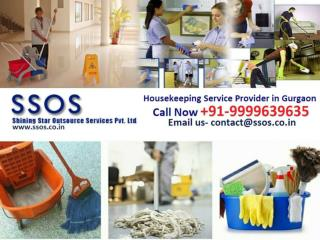 Housekeeping service provider Gurgaon call SSOS