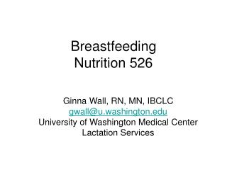 Breastfeeding Nutrition 526