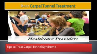 Carpal Tunnel Treatment