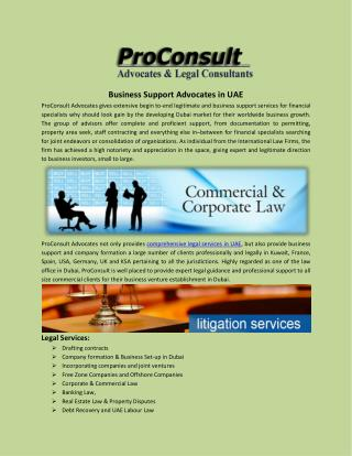 Business support advocates in UAE
