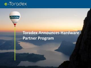 Toradex Announces Hardware Partner Program