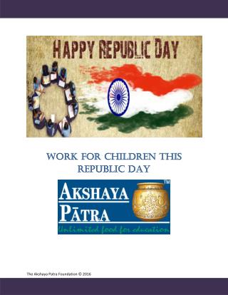 Work for Children this Republic Day