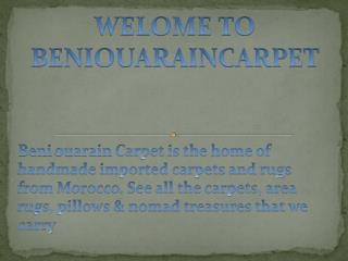 BENI OURAIN & AZILAL RUGS - Beniouarain Carpet
