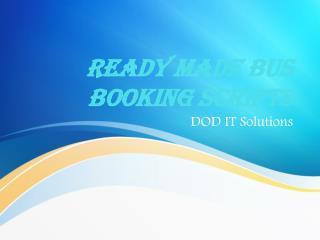 Bus booking scripts