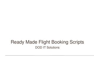 Flight booking scripts