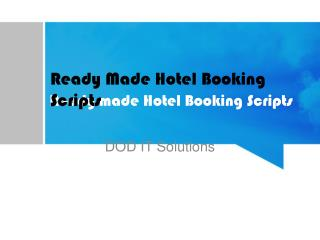 Hotel booking scripts