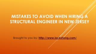Mistakes To Avoid When Hiring A Structural Engineer In New Jersey