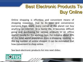 Leading Online Electronic Shopping Store | Lotus Electronics