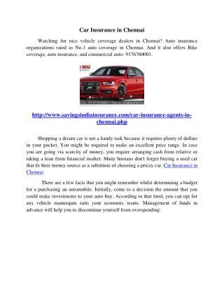 Car Insurance in Chennai