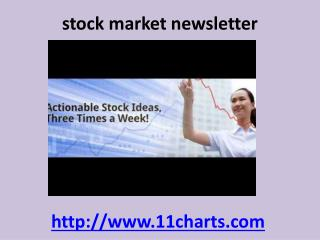 stock market investment newsletter