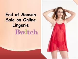 Bwitch Offers up to 60% Off on Online Bra Panty