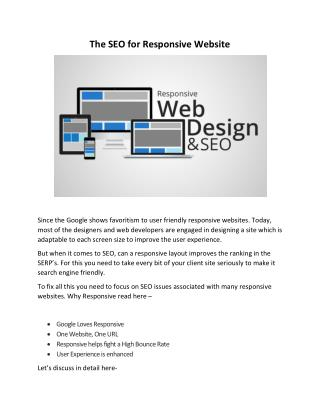 The SEO for Responsive Website