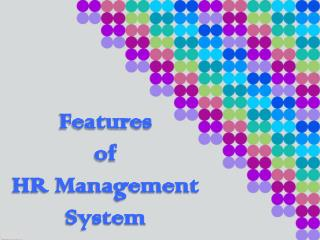 Features of HR Management System