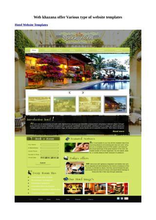Free medical website templates at Webkhazana