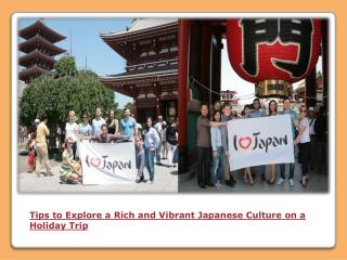 Tailor made tours in Japan