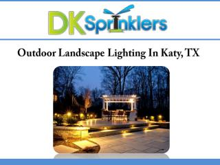 Outdoor Landscape Lighting In Katy, TX