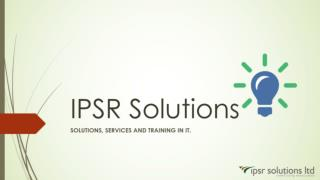 Ipsr solutions   IT Services