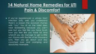 14 Natural Home Remedies for UTI Pain & Discomfort