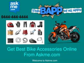 Get Best Bike Accessories Online From Askme.com