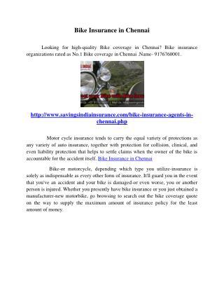 Bike Insurance in Chennai