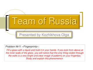 Team of Russia