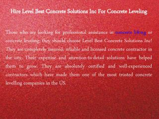 Concrete Lifting or Concrete Leveling Solutions