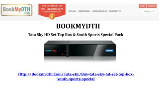 Tata Sky HD Set Top Box & South Sports Special Pack - BookMydth/Tatasky