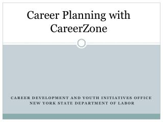 Career Planning with CareerZone