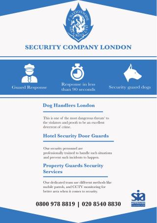 Security Company London