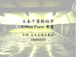 日本千葉縣柏市 Urban Farm 考察