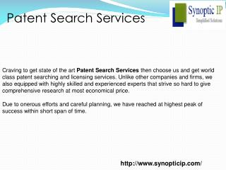 Patent Search Services