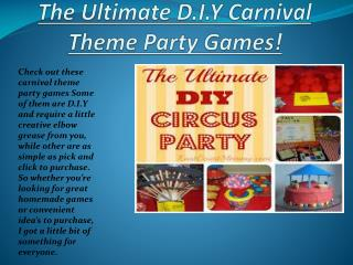 The Ultimate DIY Carnival Theme Party Games!