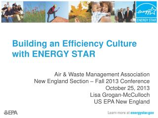 Building an Efficiency Culture with ENERGY STAR