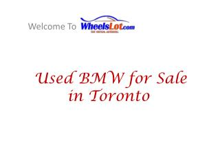 Buy Used BMW in Toronto
