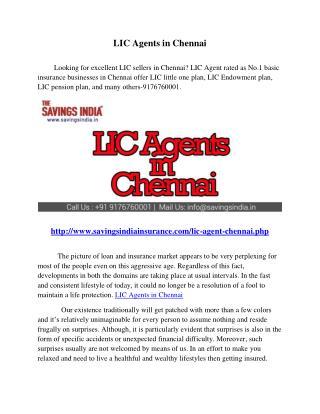 LIC Agents in Chennai