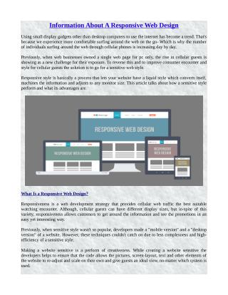 Information About A Responsive Web Design
