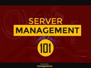 Server Management 101