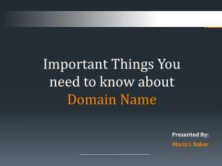 Important Things You need to know about Domain Name