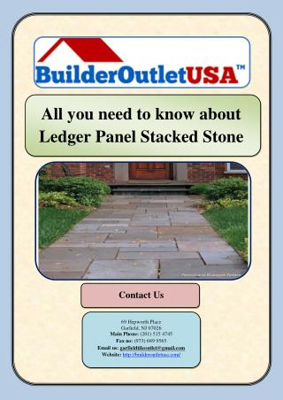 All you need to know about Ledger Panel Stacked Stone