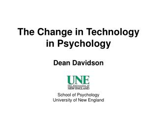 The Change in Technology in Psychology