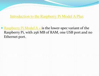 Raspberry Pi Model a Plus India