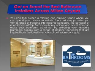 Get on Board the Best Bathroom Installers Across Milton Keynes