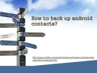 How to backup android contacts?