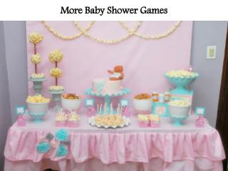 More Baby Shower Games
