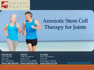 Amniotic Stem Cell Therapy for Joints
